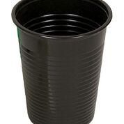 Black Plastic Textured Cups