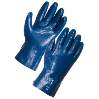 Blue grit Nitrile Fleece Lined Glove