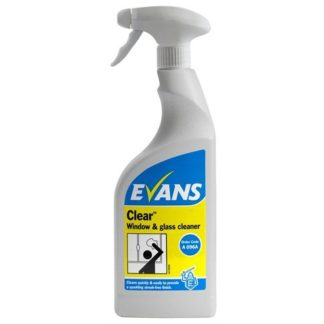 Evans Clear, 750ml Window Glass & Stainless Steel Cleaner